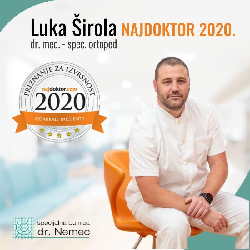 Luka Širola, dr. med., osvajač priznanja Najdoktor 2020
